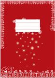 Chritmas notebook. Christmas notebook with train and toys for children Stock Photos
