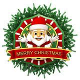 Chritmas ornament with santa claus Stock Images