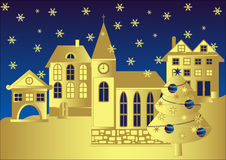 Chritmas scene, vector Royalty Free Stock Image