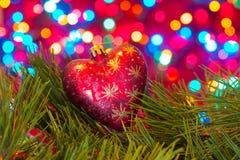 Chritmas tree toy, heart-shaped Royalty Free Stock Photo
