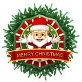 Chritmas-Verzierung mit Weihnachtsmann Stockbilder