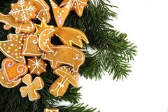 Chritsmas background with xmas cookies Stock Image