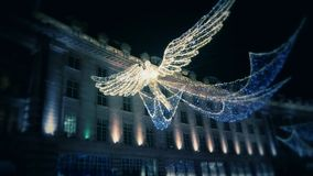 Chritsmas-Engel auf Oxford-Straße Lizenzfreies Stockbild