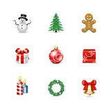 Chritsmas icons. Azzuro series Stock Image