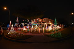 Chritsmas light. Beautiful home house Christmas lights lighting royalty free stock images