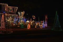 Chritsmas light. Beautiful home house Christmas lights lighting Royalty Free Stock Photo