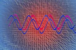 ChriVirtual teknologibakgrund för färg Royaltyfri Bild