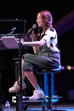 Chriz Tong at Esplanade outdoor theatre Royalty Free Stock Photo