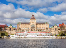 Chrobry Embankment and waterfront in Szczecin. Stock Images