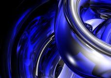Chrom in der blauen Leuchte Stockbild