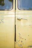 Chrom drzwiowa rękojeść stary samochód fotografia royalty free