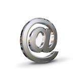 Chrom-eMail-Symbol stock abbildung