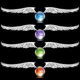 Chrom-Flügel-Set stock abbildung
