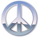 Chrom-Friedenszeichen Stockbilder