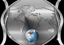 Chrom-Inner-Kugel-Geschäfts-Hintergrund vektor abbildung