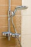chrom kierownicza nowożytna prysznic fotografia stock