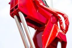 Chrom matrycujący hydrauliczny mechanizm zdjęcie stock