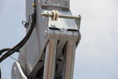 Chrom matrycujący hydrauliczny mechanizm zdjęcia stock