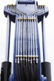 Chrom matrycujący hydrauliczny mechanizm fotografia royalty free