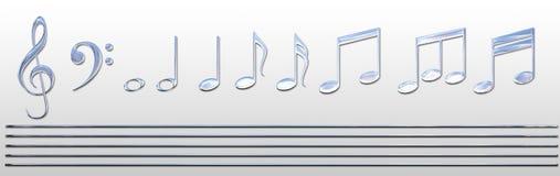 Chrom-Musik-Anmerkungen stock abbildung