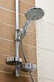 chrom prysznic kierownicza nowożytna obrazy royalty free