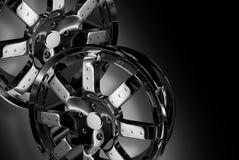 Chrom-Räder stock abbildung