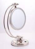 Chrom-runder Spiegel mit Standplatz Lizenzfreies Stockbild