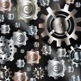 Chrom-Silbergänge des abstrakten Hintergrundes metallische vektor abbildung