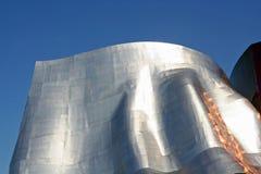Chrom-Skulptur in Seattle Stockbild