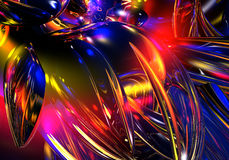 Chrom wires in abstract colores Royalty Free Stock Photo