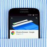 Chrom wyszukiwarka na Samsung galaxy pokazie zdjęcie stock