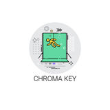 Chroma Key Green Background Film Production Technology Icon. Vector Illustration Royalty Free Stock Photo