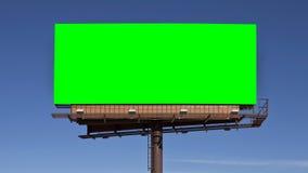 Chroma Key Green Billboard. Chroma key green screen billboard.  Sized to video 4k 4096 x 2304 dimension Stock Images