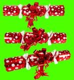 Chroma keyed Christmas crackers Stock Photography