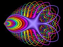 Chroma therapeutic also. Colorful and strange shape made with fractal Royalty Free Stock Images