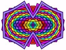 Chroma therapeutic kaleidoscope. Colorful odd shape in kaleidoscope Stock Photos