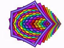 Chroma therapeutic too. Colorful odd shape made with fractal Royalty Free Stock Photos