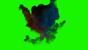 Chromakey bomb explosion with smoke