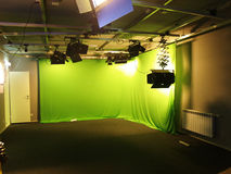 Chromakey studio Stock Images
