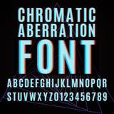 Chromatic aberration font Royalty Free Stock Images