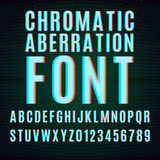 Chromatic aberration font Stock Photos