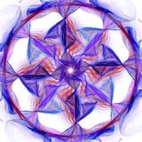 Chromatic fan. Inside colored ring - fractal vector illustration