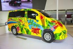 Chromatic nissan nv200 car model. New chromatic nissan nv200 car model in 2014 the 10th zhengzhou dahe spring international auto show.take from zhengzhou henan Royalty Free Stock Images