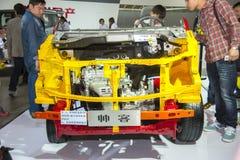 Chromatic nissan succe car model. New chromatic nissan succe car model in 2014 the 10th zhengzhou dahe spring international auto show.take from zhengzhou henan Stock Photo