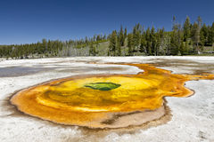Chromatic Spring. A hot spring in the Upper Geyser Basin of Yellowstone National Park, USA Stock Photos