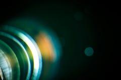 Chromatische Abweichung in der Linse Stockfotografie