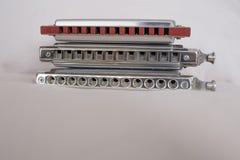 Chromatische en diatonische harmonika's stock foto's