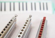 Chromatische harmonika's en melodion royalty-vrije stock afbeelding