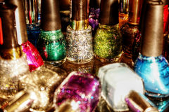 Chromatism. Captures the sparkle of nail art beautifully Stock Photography