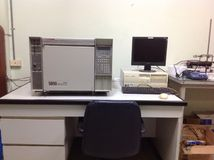 Chromatographie en phase gazeuse Images stock